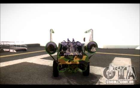 Camo Espaço De Encaixe para GTA San Andreas traseira esquerda vista