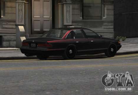 Prototype Crown 1997 Civilian para GTA 4 esquerda vista