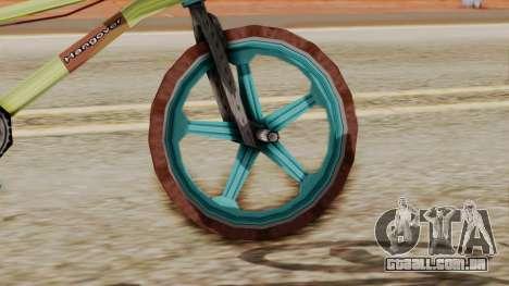 Crap BMX para GTA San Andreas traseira esquerda vista