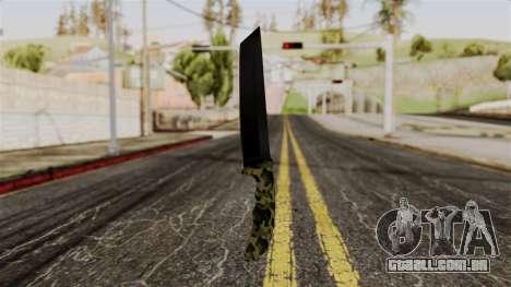 Nova faca de camo para GTA San Andreas