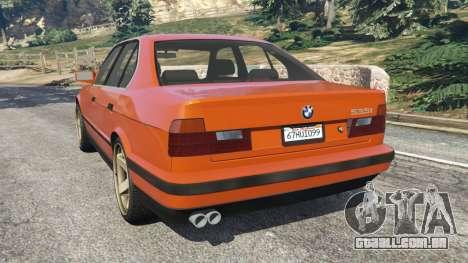 GTA 5 BMW 535i (E34) v2.0 traseira vista lateral esquerda