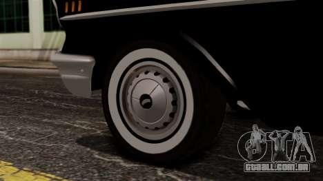 Chevrolet Bel Air Sport Coupe (2454) 1957 IVF para GTA San Andreas traseira esquerda vista