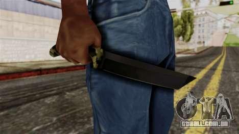Nova faca de camo para GTA San Andreas terceira tela