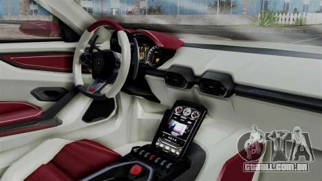 Lamborghini Asterion 2015 Concept para GTA San Andreas vista direita