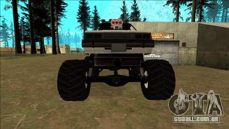 Willard Monster para GTA San Andreas vista superior