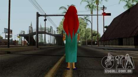 Ariel (Human Version) para GTA San Andreas terceira tela