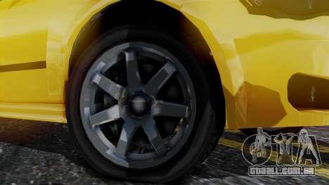 GTA 5 Karin Asterope para GTA San Andreas traseira esquerda vista