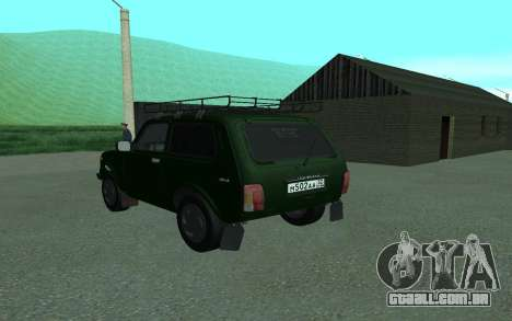 VAZ 21213 Niva para GTA San Andreas traseira esquerda vista