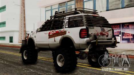 Ford Explorer Zombie Protection para GTA San Andreas esquerda vista