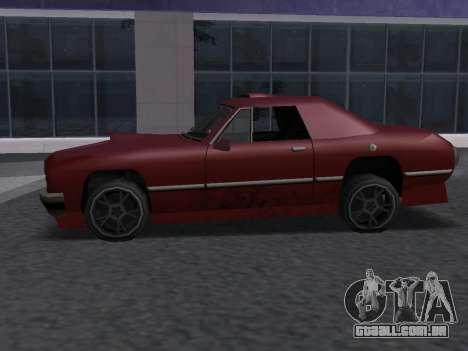 New Stallion para GTA San Andreas vista traseira