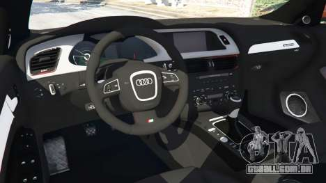 GTA 5 Audi S4 frente vista lateral direita