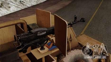 MRAP Buffel from CoD Black Ops 2 para GTA San Andreas vista direita