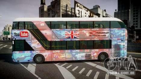 Wrightbus New Routemaster para GTA 4 esquerda vista