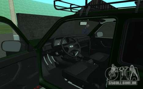 VAZ 21213 Niva para GTA San Andreas vista traseira