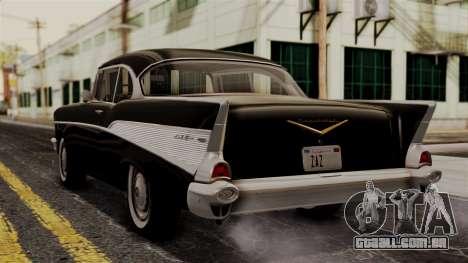 Chevrolet Bel Air Sport Coupe (2454) 1957 IVF para GTA San Andreas esquerda vista