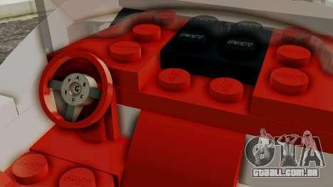 Lego Mach 5 para GTA San Andreas vista direita