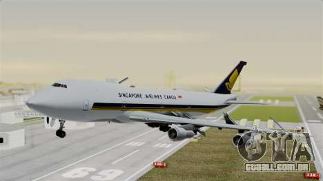 Boeing 747 Singapore Cargo para GTA San Andreas