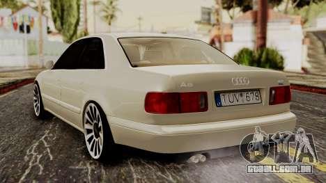 Audi A8 D2 para GTA San Andreas esquerda vista