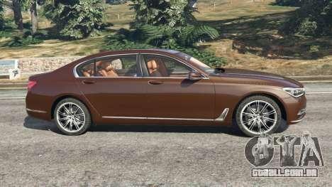 GTA 5 BMW 750Li 2016 v1.1 vista lateral esquerda