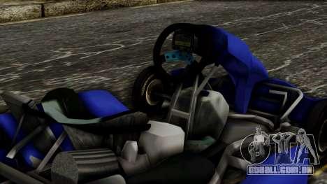 Crash Team Racing Kart para GTA San Andreas vista direita