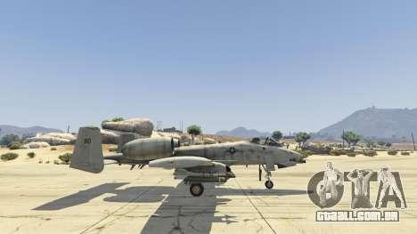 GTA 5 A-10A Thunderbolt II 1.1 quinta imagem de tela
