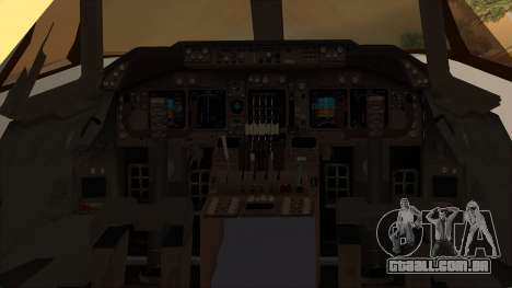 Boeing 747-100 National Airlines para GTA San Andreas vista traseira