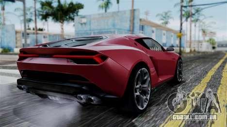 Lamborghini Asterion 2015 Concept para GTA San Andreas esquerda vista