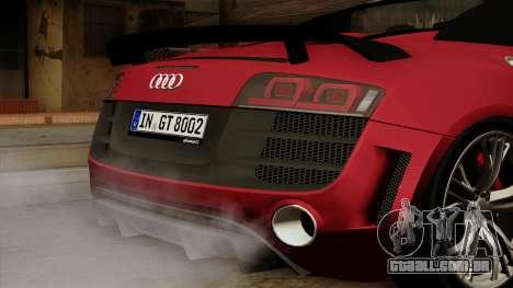 Audi R8 GT Spyder 2012 para GTA San Andreas vista traseira