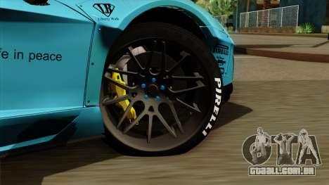 Lamborghini Aventador LB Performance para GTA San Andreas traseira esquerda vista