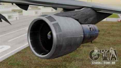Boeing 747 Singapore Cargo para GTA San Andreas vista direita