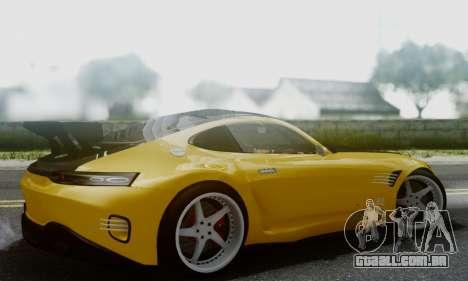Mercedes-Benz AMG GT para GTA San Andreas traseira esquerda vista