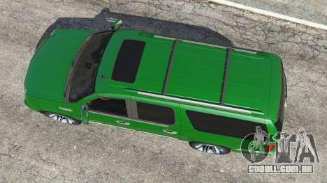 GTA 5 Cadillac Escalade ESV 2012 voltar vista