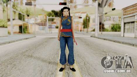 DOA 5 Pai Chan para GTA San Andreas segunda tela