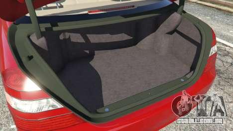 GTA 5 Mercedes-Benz S550 W221 v0.4.1 [Alpha] frente vista lateral direita