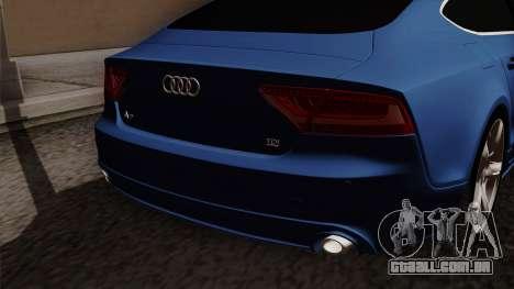 Audi A7 Sportback 2009 para GTA San Andreas vista traseira