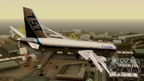 Boeing 757-200 Eastern Air Lines para GTA San Andreas esquerda vista