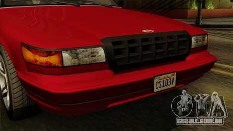 GTA 5 Vapid Stanier I IVF para GTA San Andreas vista traseira