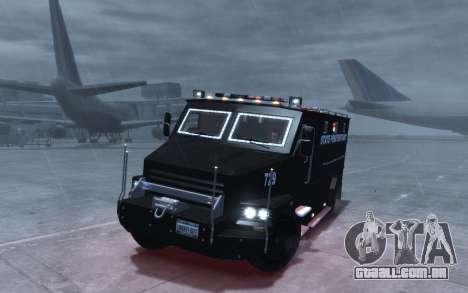 International 4000-Series SWAT Van para GTA 4 vista de volta