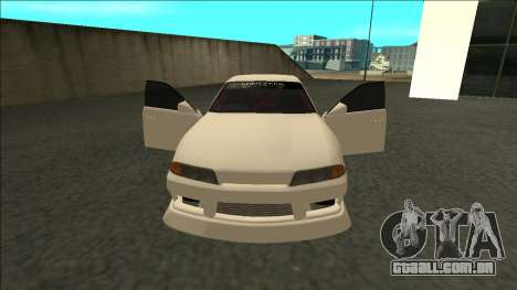 Nissan Skyline R32 Sedan Monster Energy Drift para GTA San Andreas vista direita