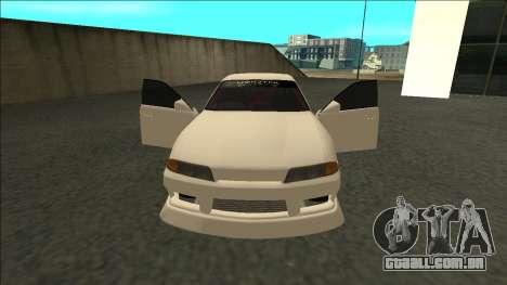 Nissan Skyline R32 Sedan Monster Energy Drift para GTA San Andreas vista direita