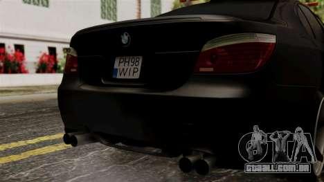 BMW M5 E60 Vossen v1 para GTA San Andreas vista interior