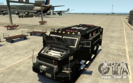 International 4000-Series SWAT Van para GTA 4 vista interior