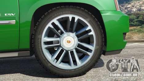GTA 5 Cadillac Escalade ESV 2012 traseira direita vista lateral