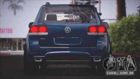Volkswagen Touareg R50 2008 para GTA San Andreas vista inferior