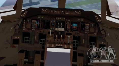 Boeing 747 British Airlines (Landor) para GTA San Andreas vista interior