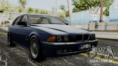 BMW 530D E39 1999 Stock para GTA San Andreas