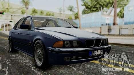 BMW 530D E39 1999 Stock para GTA San Andreas