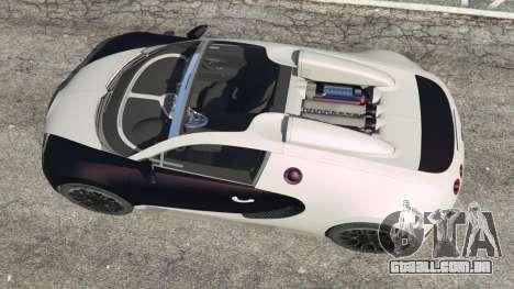 GTA 5 Bugatti Veyron Grand Sport v4.0 voltar vista