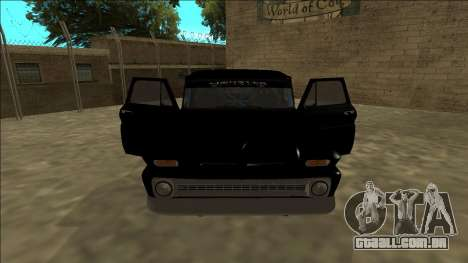 Chevrolet C10 Drift Monster Energy para GTA San Andreas vista interior