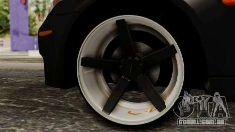 BMW M5 E60 Vossen v1 para GTA San Andreas traseira esquerda vista